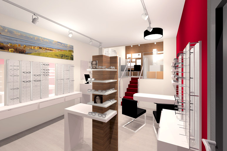 Einrichtung optiker lisa funktion und design for Einrichtung und design